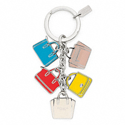 COACH LEGACY BAG MULTI MIX KEY RING - ONE COLOR - F64528
