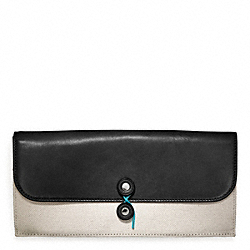 BLEECKER CANVAS TRAVEL WALLET COACH F64541
