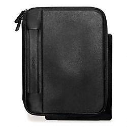 COACH BLEECKER LEATHER TABLET ORGANIZER - BLACK - F64547