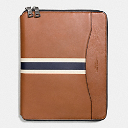 TECH CASE IN SPORT CALF VARSITY LEATHER - SADDLE - COACH F64561