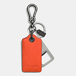 BOTTLE OPENER KEY RING - ORANGE - COACH F64577