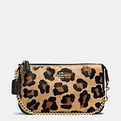 COACH LARGE WRISTLET 19 IN HAIRCALF - IMITATION GOLD/NEUTRAL - F64583