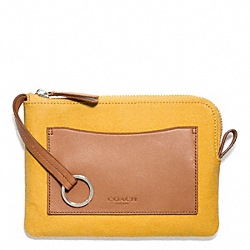 BLEECKER CANVAS BEACH POUCH - MANGO - COACH F64636