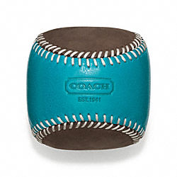 COACH BLEECKER LEATHER SUEDE BASEBALL PAPERWEIGHT - ONE COLOR - F64677