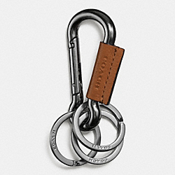 CARABINER KEY RING - SADDLE - COACH F64769