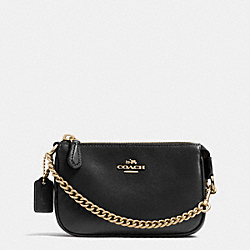 COACH NOLITA WRISTLET 15 IN LEATHER - LIGHT GOLD/BLACK - F64791