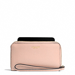 COACH SAFFIANO LEATHER EAST/WEST UNIVERSAL CASE - LIGHT GOLD/PEACH ROSE - F64976