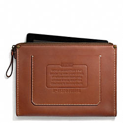 COACH LEATHER TABLET ZIP ENVELOPE - ONE COLOR - F65016
