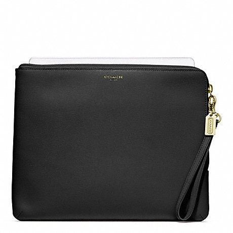COACH SAFFIANO LEATHER L-ZIP IPAD SLEEVE -  - f65076