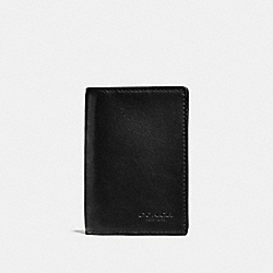 BIFOLD CARD CASE - BLACK - COACH F65104