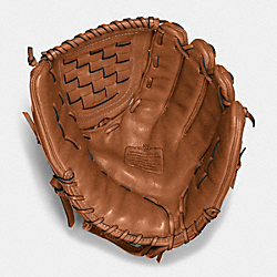 COACH LEATHER BASEBALL GLOVE - SADDLE - F65170