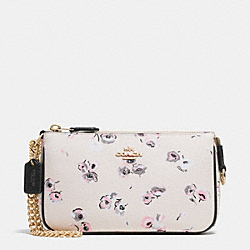 COACH LARGE WRISTLET 19 IN WILDFLOWER PRINT COATED CANVAS - IMITATION GOLD/CHALK MULTI - F65175