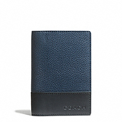 COACH CAMDEN LEATHER PASSPORT CASE - ONE COLOR - F65177