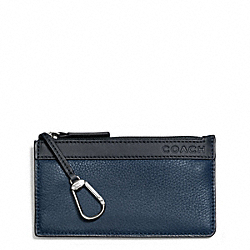 COACH CAMDEN LEATHER ENVELOPE KEY CASE - ONE COLOR - F65178