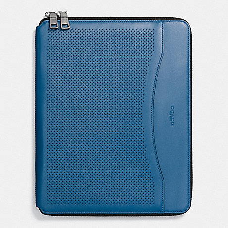 COACH TECH CASE IN PERFORATED LEATHER - DENIM - f65200