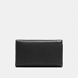 COACH UNIVERSAL PHONE CASE IN PERFORATED LEATHER - BLACK - F65204