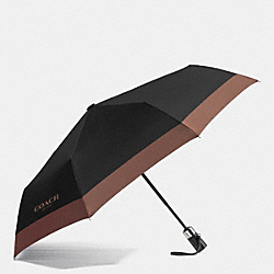 COACH RETRACTABLE UMBRELLA IN NYLON - BLACK - F65206