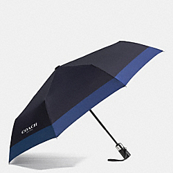COACH RETRACTABLE UMBRELLA IN NYLON - DENIM - F65206