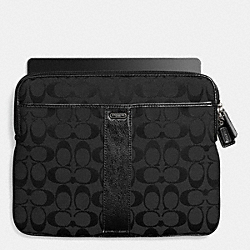 COACH SIGNATURE EAST/WEST UNIVERSAL CASE IN SIGNATURE CANVAS - SILVER/BLACK/BLACK 2 - F65256