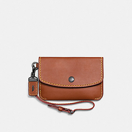 COACH ENVELOPE KEY POUCH - 1941 SADDLE/BLACK COPPER - f65268