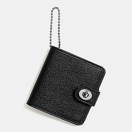 COACH f65306 FATHERS DAY PHOTO BOOK KEY RING BLACK