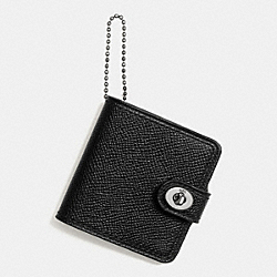 COACH FATHERS DAY PHOTO BOOK KEY RING - BLACK - F65306