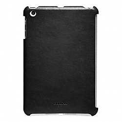 COACH BLEECKER LEATHER MOLDED MINI IPAD CASE - BLACK - F65416