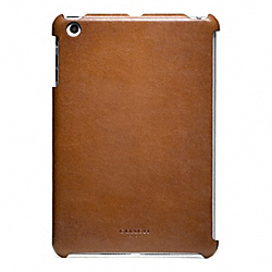 COACH BLEECKER LEATHER MOLDED MINI IPAD CASE - FAWN - F65416