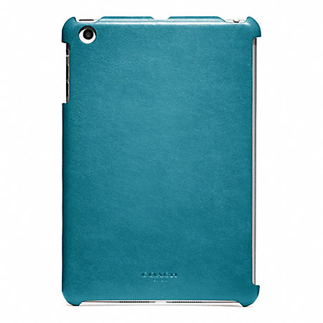 COACH BLEECKER LEATHER MOLDED MINI IPAD CASE - OCEAN - f65416