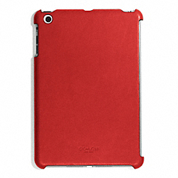 COACH BLEECKER LEATHER MOLDED IPAD MINI CASE - TOMATO - F65416