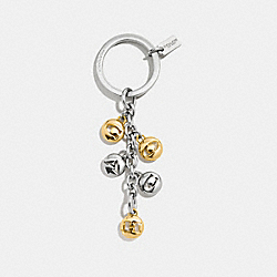 COACH SIGNATURE COACH CHARM KEY RING - SILVER/GOLD - F65430