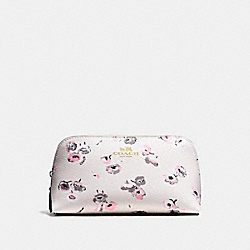COACH COSMETIC CASE 17 IN WILDFLOWER PRINT COATED CANVAS - IMITATION GOLD/CHALK MULTI - F65441