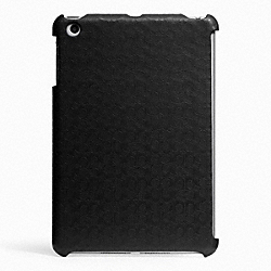 COACH HERITAGE SIGNATURE MINI IPAD CASE - BLACK - F65536