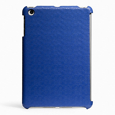 COACH HERITAGE SIGNATURE MINI IPAD CASE - BLUE - f65536