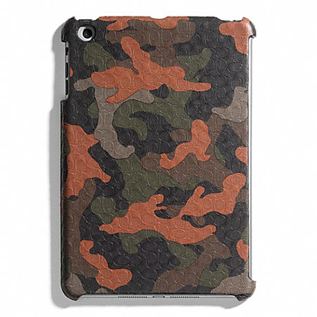 COACH HERITAGE SIGNATURE MINI IPAD CASE - FATIGUE/ORANGE CAMO - f65536