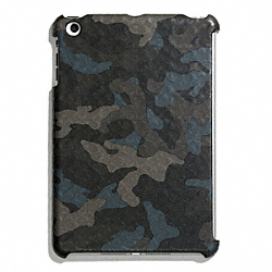 COACH HERITAGE SIGNATURE MINI IPAD CASE - GREY/STORM BLUE - F65536