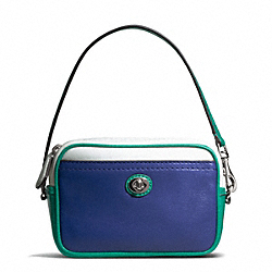 PARK COLORBLOCK EAST/WEST MULTI POUCH - SILVER/FRENCH BLUE MULTI - COACH F65576