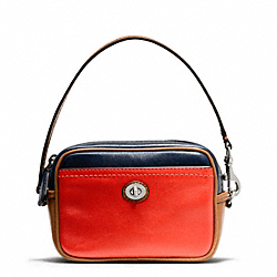 COACH PARK COLORBLOCK EAST/WEST MULTI POUCH - SILVER/VERMILLION MULTICOLOR - F65576