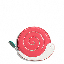 COACH SNAIL COIN PURSE - ONE COLOR - F65636