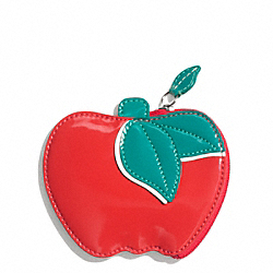 COACH APPLE COIN PURSE - ONE COLOR - F65638