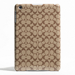 SIGNATURE MOLDED MINI IPAD CASE - f65641 - KHAKI/MAHOGANY