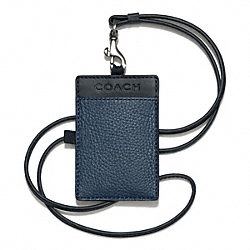 COACH CAMDEN LEATHER EAST/WEST LANYARD - NAVY/DARK NAVY - F65656