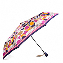 PARK HAND DRAWN SCARF PRINT UMBRELLA COACH F65678