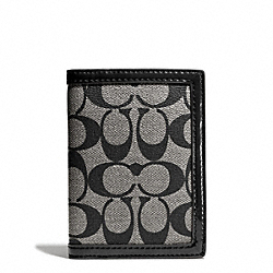 COACH PARK SIGNATURE PVC PASSPORT CASE - SILVER/BLACK/WHITE/BLACK - F65699