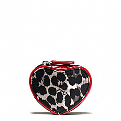 COACH PARK OCELOT PRINT HEART JEWELRY POUCH - ONE COLOR - F65708