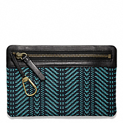 COACH BLEECKER WOVEN KEYCASE ENVELOPE - ONE COLOR - F65738