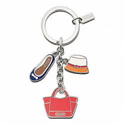 COACH ACCESSORIES MULTI MIX KEY RING - ONE COLOR - F65743