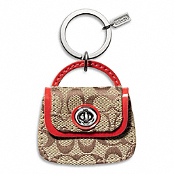 COACH PARK SIGNATURE HANDBAG KEY RING - ONE COLOR - F65744