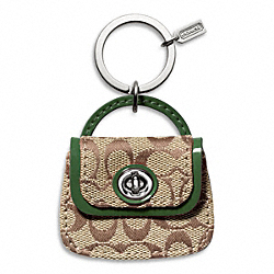 PARK SIGNATURE HANDBAG KEY RING COACH F65744