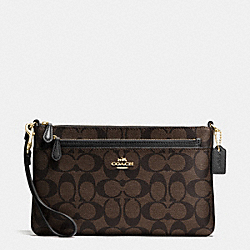 COACH WRISTLET IN POP UP POUCH IN SIGNATURE - IMITATION GOLD/BROWN/BLACK - F65806